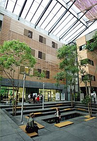 Biologicum: inner courtyard